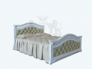 Кровать Верона с кож.замом