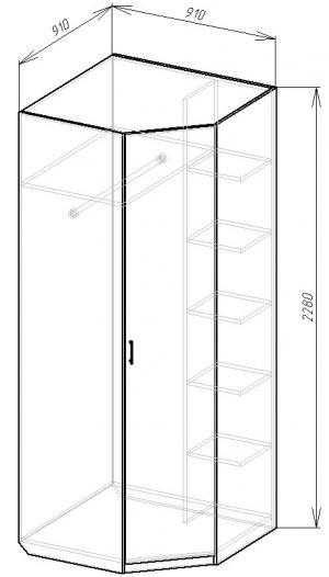 В-15 Шкаф угловой