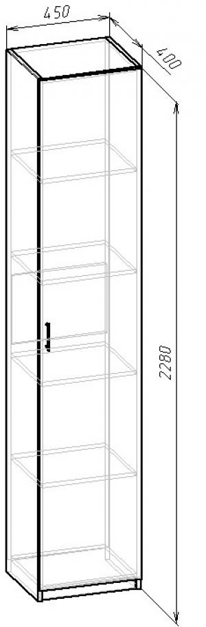 В-03 Шкаф с полками