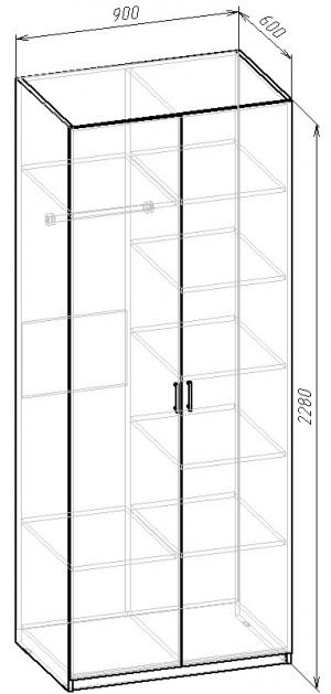 В-10 Шкаф комбинированный
