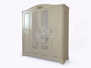 Шкаф №3 4-х створчатый с декоративными элементами